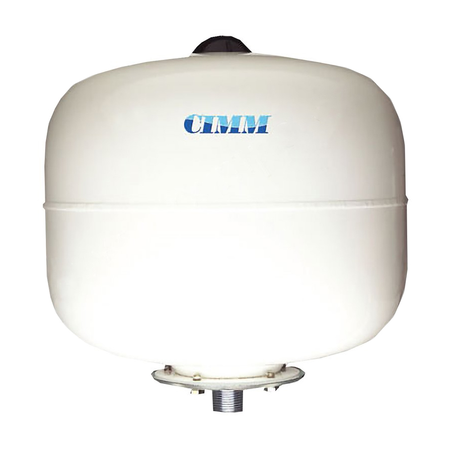 Tlaková nádoba CIMM 24l pro vodárny s vyměnitelnou membránou, stojatá, 8 barů.