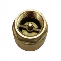 Zpětná klapka s mosaznou záklopkou krátká